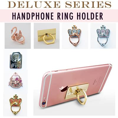 Ring Stand Phone Pegangan Ring Handphone U470g1 qoo10 deluxe series mobile handphone ring iring phone holder iphone samsung mobile devices