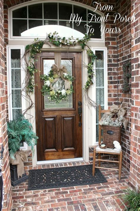 front patio doors simple front porch wreaths porch decorating