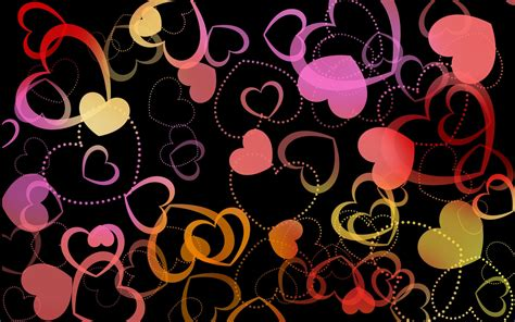 hearts background colorful hearts wallpapers wallpaper cave