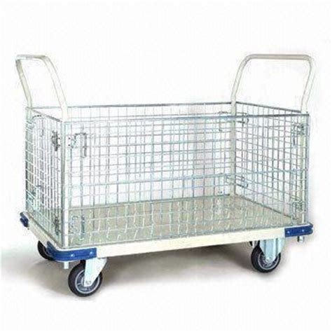 C Mart Three Layer Tool Trolley Drawer C Tt3d heavy duty wire mesh storage cart with capacity of 500kg
