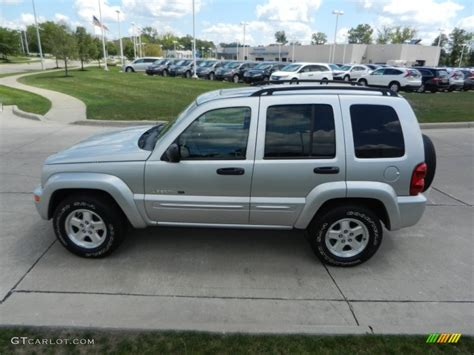silver jeep liberty bright silver metallic 2003 jeep liberty limited 4x4