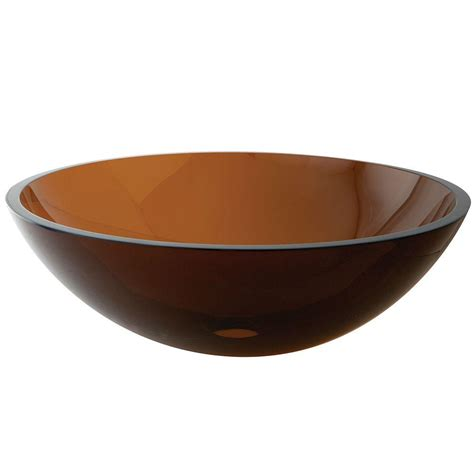 kingston brass glass vessel sink in brown hevspfw1