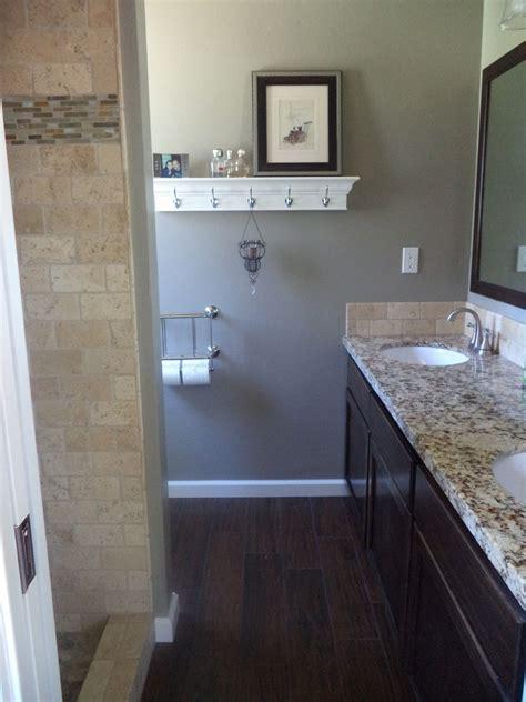 dark tile bathroom ideas the new small master bathroom dark tile floors that look