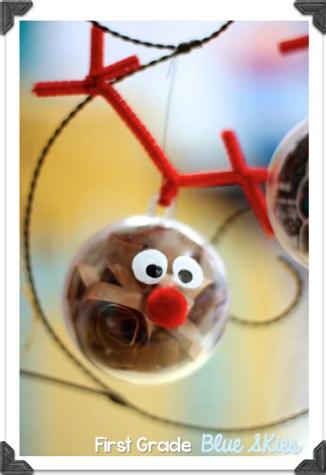 christmas ornaments with photos for third grade grade blue skies ornaments