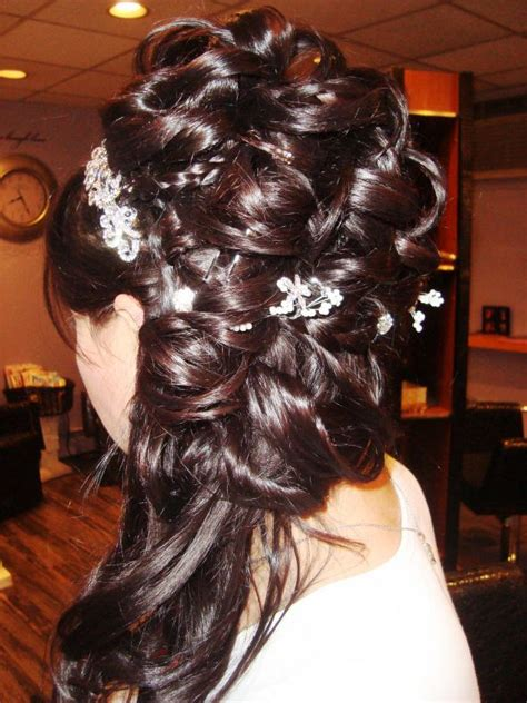 Wedding Hair Ceremony Up Reception by My Wedding Hair Ceremony Then Pin Up For Reception