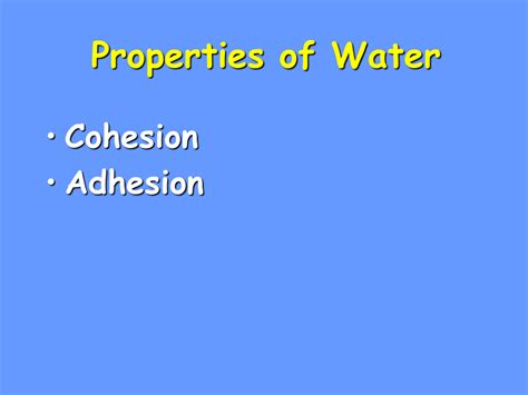 ap biology biochemistry lesson 2 unique properties of water and