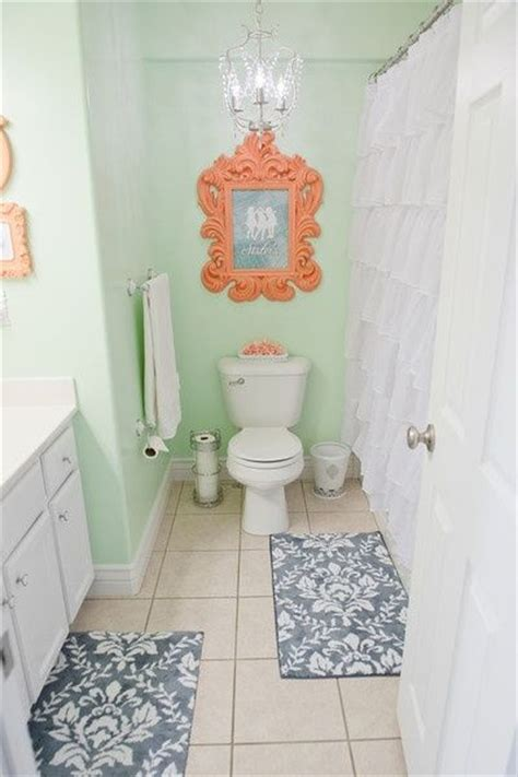 coral bathroom paint 38 best green bathrooms images on pinterest