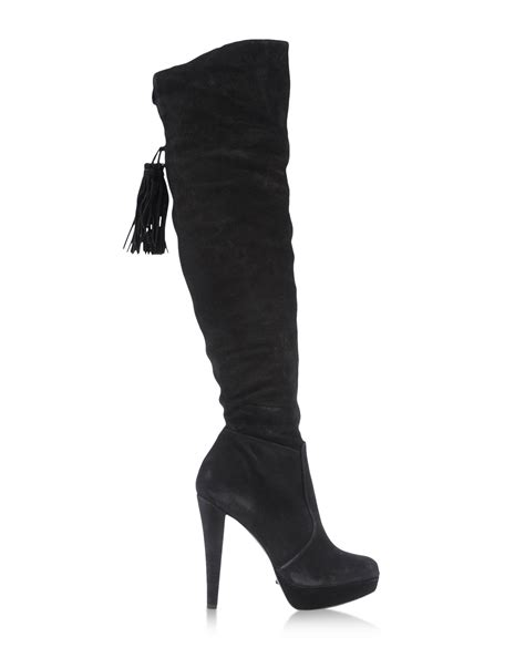 schutz the knee boots schutz the knee boots in black lyst