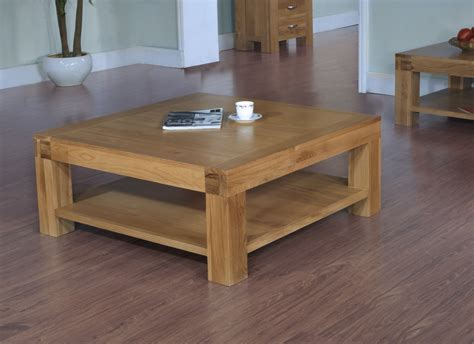 langton solid contemporary oak furniture square coffee