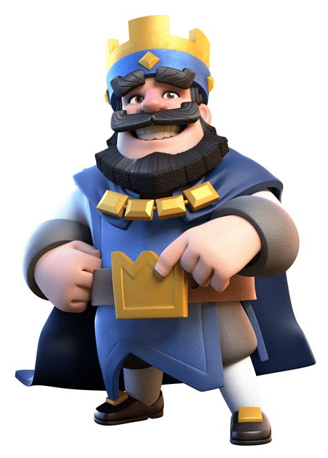 clas royal clash royale blue king transparent png stickpng