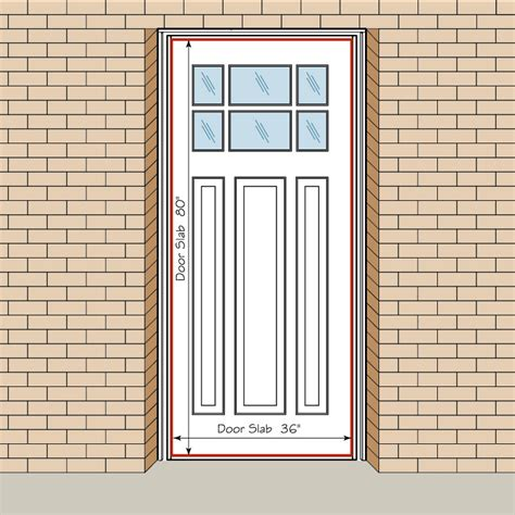 How To Measure Your Front Entry Door Replacement Exterior Exterior Door Frame Dimensions