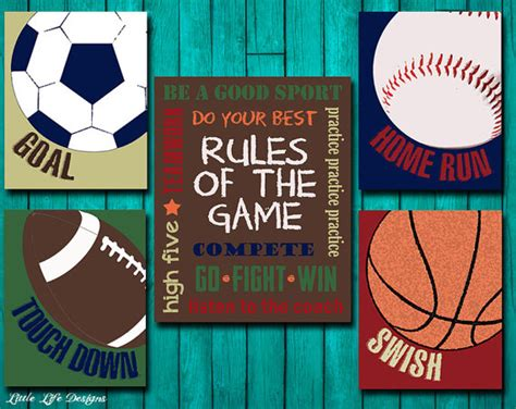 Sports Decor Sports Nursery Boy Room Decor By Sports Nursery Decor