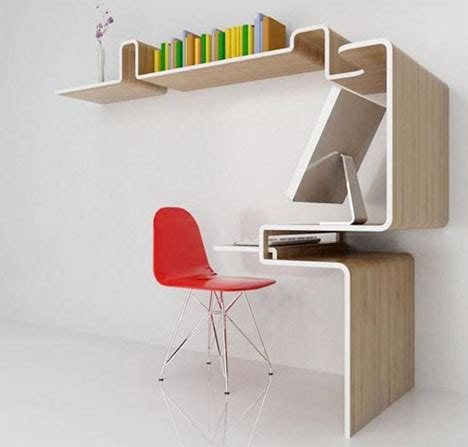 Space Saving Furniture Home Office Desk Storage Idea Space Saving Office Desks