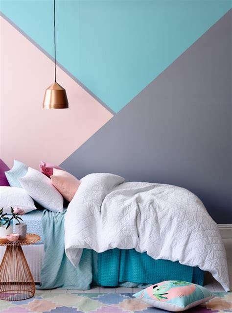 habitaciones juveniles  paredes geometricas decoideasnet