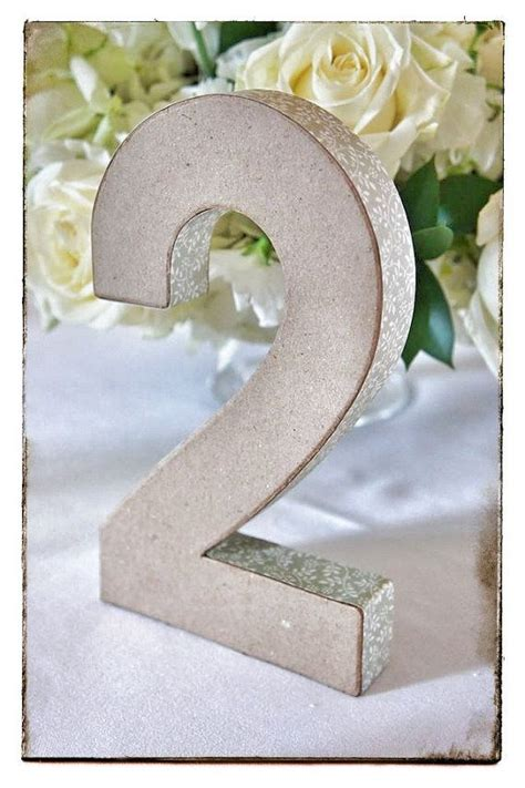 How To Make Paper Mache Numbers - 3d paper mache wedding table numbers