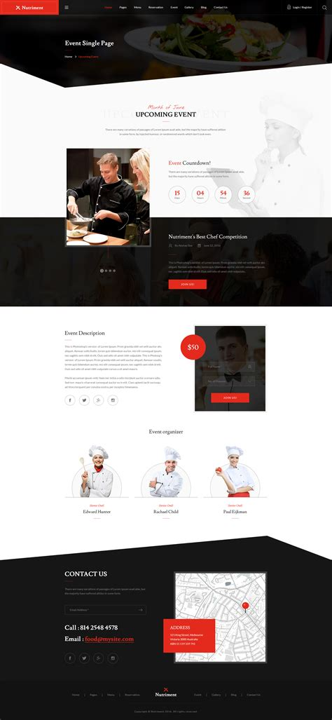 bootstrap templates for grocery nutriment restaurant cafe food bootstrap psd