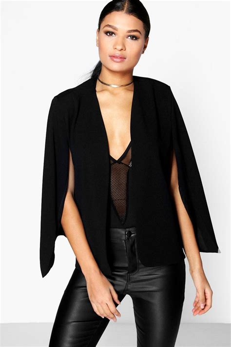 Cape Blazer cape blazer at boohoo