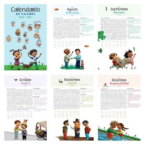 Calendario Octubre 2017 Sep Calendario De Valores Ciclo Escolar 2016 2017