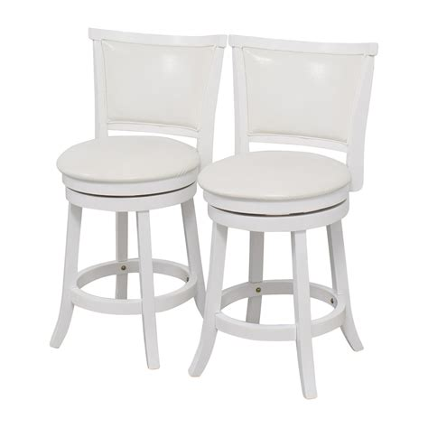 white counter height bar stools 90 off corliving corliving white leatherette swivel