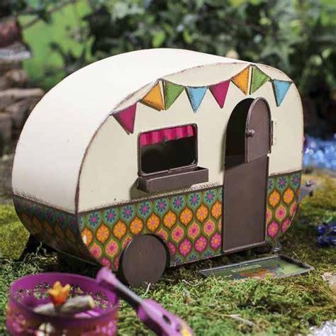 vintage inspired fairy garden camper miniature vintage