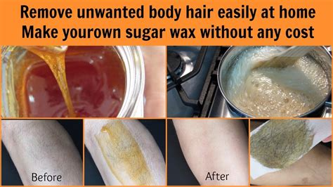 get rid of hair easily at home sugar