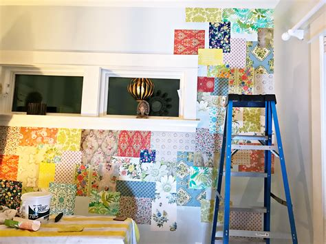 Patchwork Wall - how to make a patchwork wall hanging