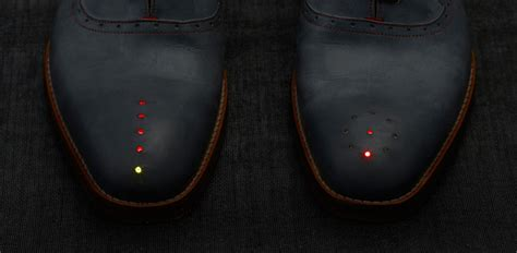 Batik Shoes Led Circle L shoes with gps by dominic wilcox