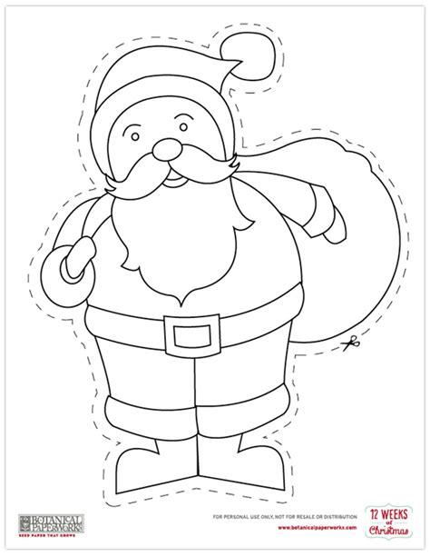 free printable christmas paper cutouts free printables christmas coloring cutouts blog