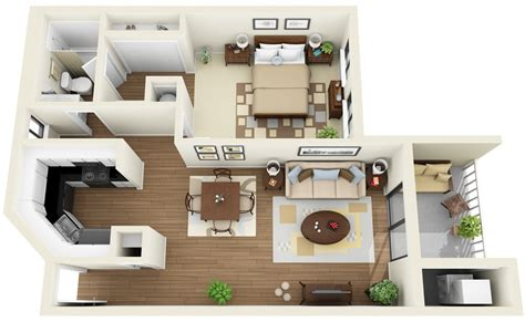 small one bedroom apartment 1 bedroom apartment house plans