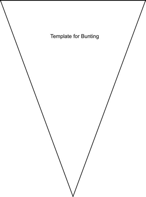 bunting template no sew bunting diy tutorial and free