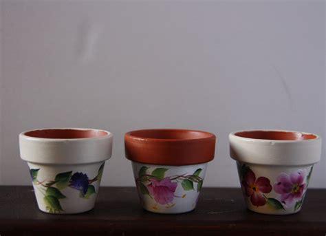 modern mini painted plant pots mini flower pots mini pots hand painted flower pots flower
