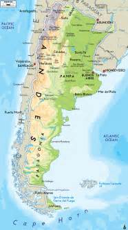physical map of argentina ezilon maps