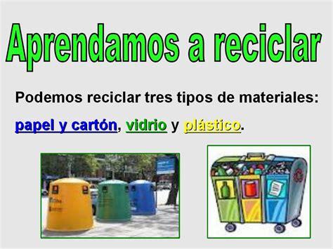 como reciclar aprende a reciclar segundo de primaria cono