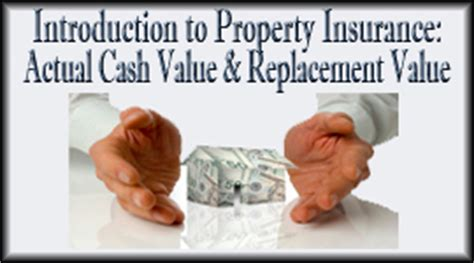 introduction to property insurance actual value