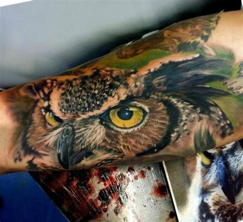 tattoo owl realistic arm realistic owl tattoo by matt jordan tattoo
