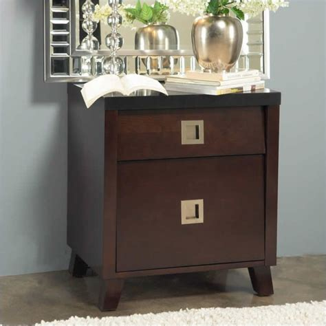 Black And Brown Nightstand Angelo Home Marlowe Nightstand In Black And Chocolate