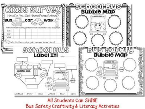 School Safety Worksheets by Safety Craftivity Safety Buses