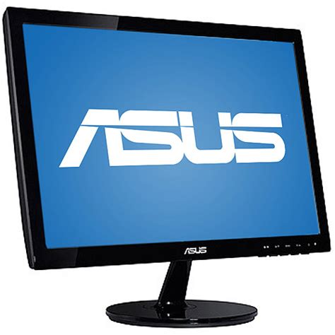 led monitor asus vs197 widescreen led 19 inch vs197d new asus 19 quot widescreen led monitor vs197d p black walmart