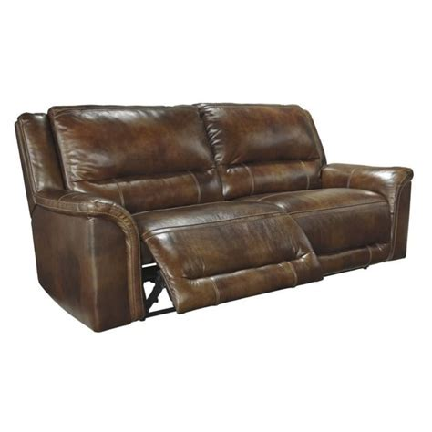 2 seat recliner ashley jayron leather 2 seat reclining sofa in harness