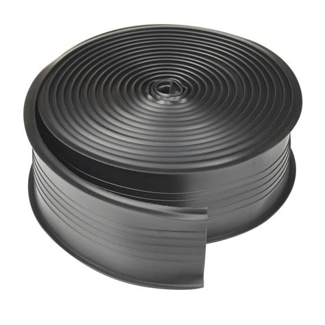 Garage Door Floor Seal Lowes Shop King 18 Ft Black Vinyl Garage Weatherstrip At