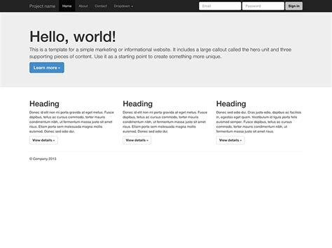new bootstrap3 templates converted into jade including