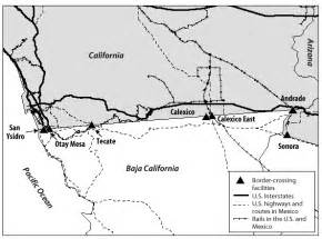 map of california mexico border map 2 border crossing facilities between california and