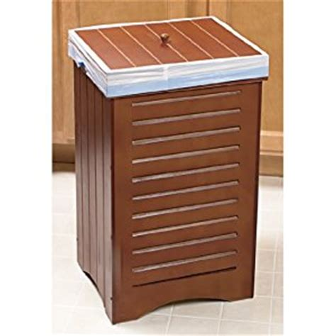 Wooden Trash Cans For Kitchen by Maple Wooden Kitchen Trash Bin Garbage Can