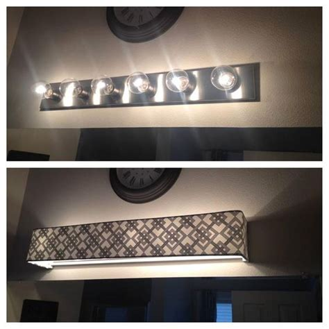 Custom L Shades Fabric Light Covers Bathroom