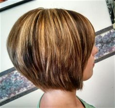 caramel highlites on inverted bob concave bob with a mix of blonde caramel and hazelnut