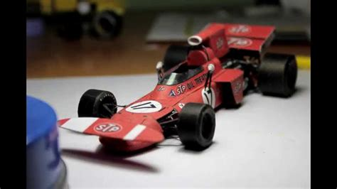 How To Make A F1 Car Out Of Paper - accurate march 711 f1 paper model papercraft of