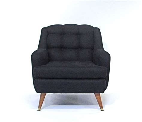 Reupholstered Chairs by Pair Mid Century Tufted Lounge Chairs Reupholstered In