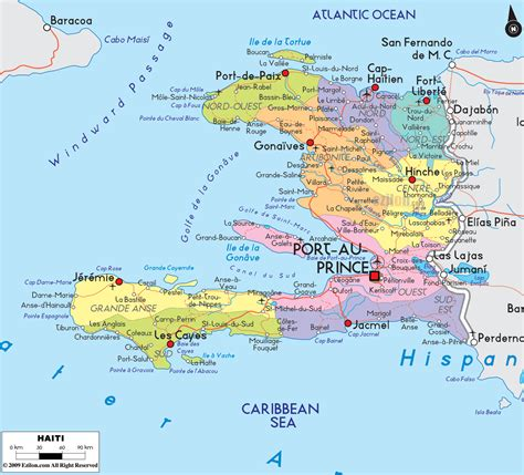 haiti map of cities large detailed political and road map of haiti with cities