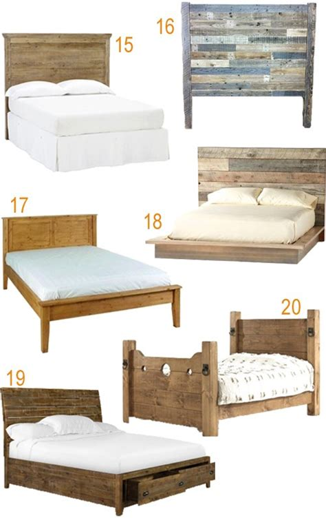 rustic bed get the look 20 rustic reclaimed wood beds stylecarrot
