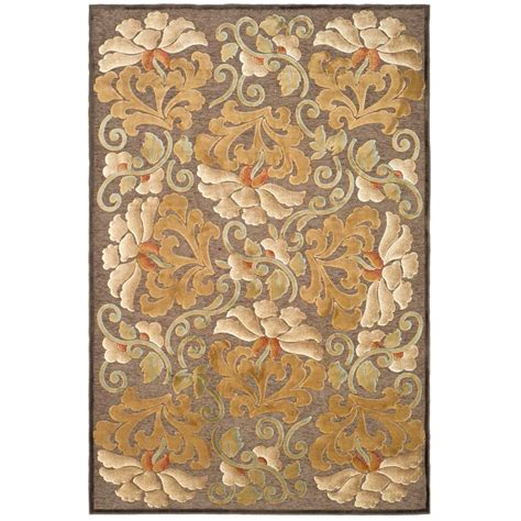 martha stewart rugs home depot martha stewart living floating dahlia light brown 8 ft x 11 ft 2 in area rug msr4441c 8 the